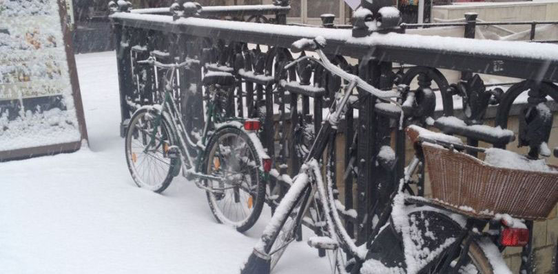 Fahrradfahren Winter