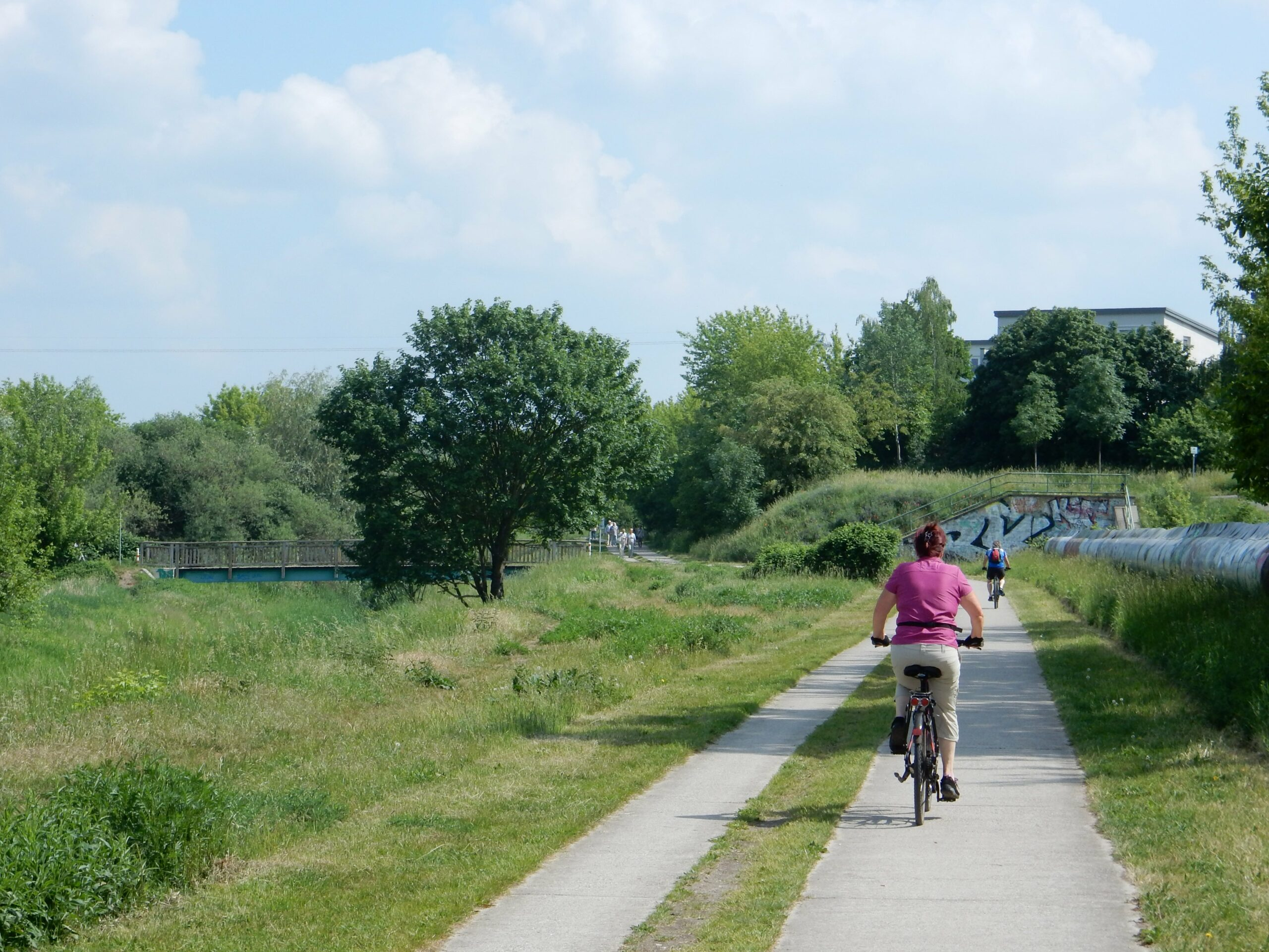 Radtour entlang der Wuhle